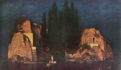 Картинки по запросу Истинное изображение «Острова мертвых» Арнольда Бёклина в час вечерней молитвы