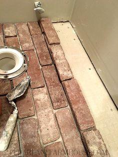 install brick floor