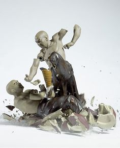 Epic action photos of porcelain figures.