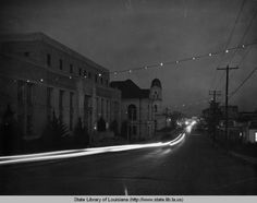 Church Street c.1940 - Natchitoches Christmastime