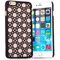 Hoy con el 24% de descuento. Llévalo por solo $19,100.Elegantes relieves círculo patrón plástico caso cubierta trasera para el iPhone 6 Plus - 5.5 pulgadas.