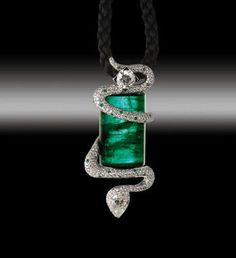 Google Image Result for http://www.pricescope.com/files/blog/zannetti-emerald-diamond-snake-pendant.jpg