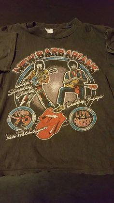 dc360a1e2 Details about Rare Vintage 70s 1979 New Barbarians Concert Tour T-Shirt  Rolling Stones Rock