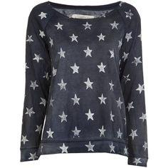 CURRENT/ELLIOTT letterman sweater found on Polyvore