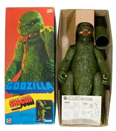 "My Second ""Shogun Warrior"" toy: The Cool & yet very disappointing Godzilla! Godzilla Figures, Godzilla Toys, Monster Toys, Cool Monsters, Ideal Toys, Childhood Toys, Childhood Memories, Japanese Characters, Vintage Horror"