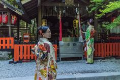 Posing in front of the main hall of the Nonomiya Shrine in Arashiyama's famous Bamboo Forest. Many young people come here to pray so they can find the right partner in marriage.