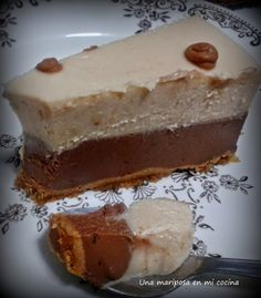 Una mariposa en mi cocina: Tarta de turron y chocolate