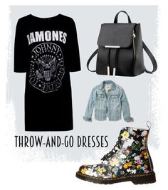 """""""Untitled #25"""" by hannah36044 ❤ liked on Polyvore featuring Boohoo, Dr. Martens and Hollister Co."""