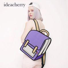 35.90$  Buy here - http://vilmd.justgood.pw/vig/item.php?t=ekr1p739752 - ideacherry 3D Stereoscopic Backpack Comic Cartoon Backpack Womens Backpack Shoul