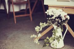 Such a simple, rustic idea for table decorations.