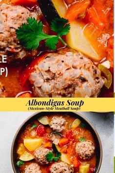 This Albondigas soup recipe is so flavorful, healthy, and easy to make. You can make this Caldo de Albondigas on the stove, slow cooker, or in an instant potI The meatballs are so tender and juicy! The best Mexican recipe to cook in cold days! t is one of my family's favorite soup recipes! . #albondigas #albondigassoup #soup #mexicansoup #caldoadealbondigas #sopa #meatballs #groundbeef #cookingvideo #recipe #rice #broth Easy Mexican Recipes, Easy Dinner Recipes, Easy Meals, Mexican Albondigas Soup Recipe, Best Soup Recipes, Healthy Recipes, Oven Roasted Chicken, Healthy Soup, Noodle