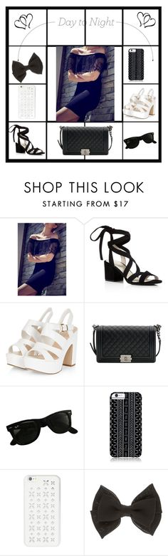"""Off the shoulder dress"" by shopoholic0708 ❤ liked on Polyvore featuring Kenneth Cole, Chanel, Ray-Ban, Savannah Hayes and MICHAEL Michael Kors"