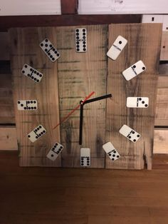 Pallet domino clock - upcycled! For Sale in Halifax, West Yorkshire | Preloved