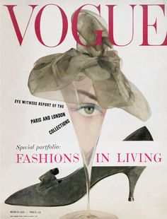 Vogue - March 1958. EDITOR - Audrey Withers. COVER - Anthony Denney