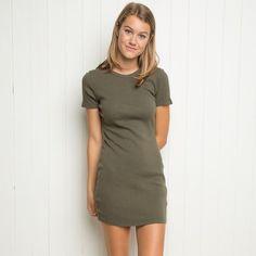 Brandy Melville Green Jenelle Dress
