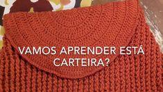 Crochet Handbags, Crochet Bags, Knit Crochet, Crochet Bag Tutorials, Crochet Patterns, Circle Purse, Knitted Bags, Bag Making, Fashion Bags