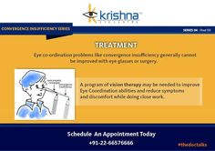 Best Eye Clinic in India: A program of vision therapy may be needed to improve Eye Coordination abilities and reduce symptoms and discomfort while doing close work. To contact us click on: http://www.krishnaeyecentre.com/contact-us/
