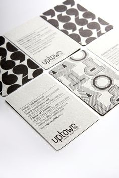 Another chic + creative business card idea. Business meetings doesn't have to be mundane! Add your own style + creativity.     UPTOWN966 by Wondereight , via Behance