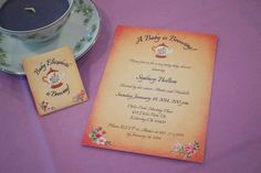 Tea Party Baby Shower Invitations by Wishful Designs
