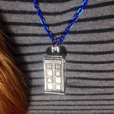 Doctor Who necklace Tardis necklace by otterlydesign on Etsy