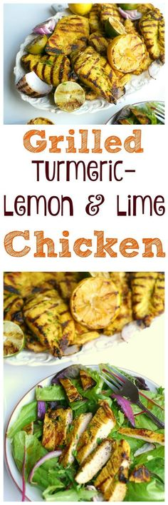 Grilled Turmeric-Lemon and Lime Chicken makes a great, low-calorie meal for any occasion from http://NoblePig.com.