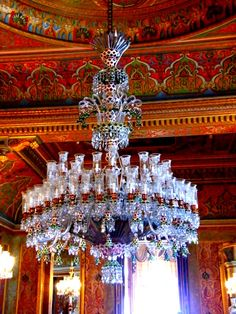 """The Beylerbeyi Palace Beylerbeyi meaning """"Lord of Lords"""" is located in the Beylerbeyi neighbourhood of Istanbul, Turkey at the Asian side of the Bosphorus. An Imperial Ottoman summer residence built in the it is now situated immediately north of t Elegant Chandeliers, Luxury Chandelier, Chandelier In Living Room, Antique Chandelier, Glass Chandelier, Chandelier Lighting, Crystal Chandeliers, Bubble Chandelier, Pendant Lamps"""