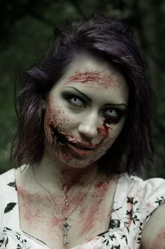 Zombie girl Portrait by Agcooper73