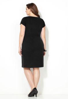 Soft Textured Sheath Dress-Plus Size Sheath Dress-Avenue