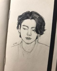 Pencil Sketch Drawing, Pencil Art Drawings, Art Drawings Sketches, Sketches Of Love, Arte Sketchbook, Art Diary, Kpop Drawings, Celebrity Drawings, Boy Art
