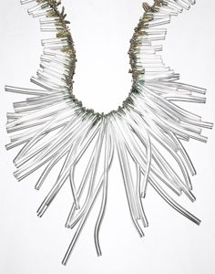 Karen Gilbert - sterling silver, pyrex, glass beads