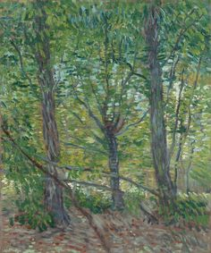 Art of the Day: Van Gogh, Trees, July 1887. Oil on canvas, 46 x 36 cm. Van Gogh Museum, Amsterdam.