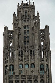 """""""Tribune Tower""""  Click the """"pinned from"""" link to purchase this print."""