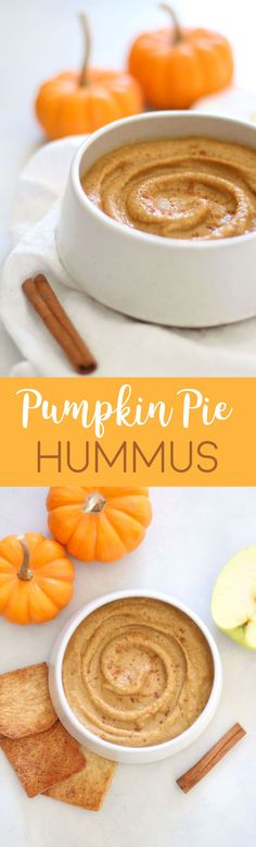Healthy Snacks Pumpkin Pie Dessert Hummus - a healthy and sweet fall dip that's great on apples, graham crackers, and cinnamon sugar pita chips! Paleo Dessert, Healthy Desserts, Pumpkin Dessert, Graham Crackers, Pumpkin Recipes, Fall Recipes, Dip Recipes, Pumpkin Spice Syrup, Food Processor Recipes