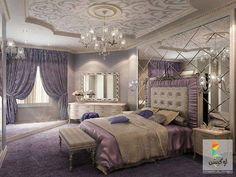 Love the diamond mirror behind the bed Bedroom Sets, Home Bedroom, Bedroom Decor, Bedrooms, Lavender Room, Dream Master Bedroom, Unusual Furniture, Pink Room, Fashion Room