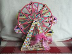 Fun, bright, beautiful!  This Ferris Wheel from SUMMER STREET CARNIVAL SVG KIT is wonderful.  Mhairi makes it fun with the perfect papers she chose!