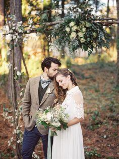 Elegant Woodland Wedding Inspiration from Noi Tran Photography