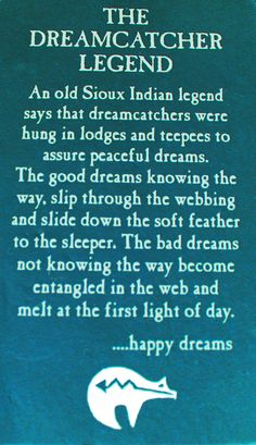 Dream Catcher legend…