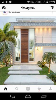 Ideas for exterior house entrance courtyards Garden Architecture, Modern Architecture House, Architecture Design, Entrance Design, House Entrance, House Front Design, Modern House Design, Design Entrée, Design Ideas