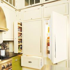 Hidden Refrigerators and stacked freezer drawers