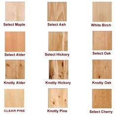 different types of furniture wood. wood grades but not pictured are knotty maple cherry different types of furniture d