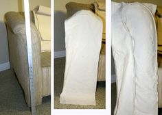 Step 1: Measure, Rough Cut, Pin Welting : The front of the rolled arm is the most noticably detail of a slipcover, so start there to get it ...
