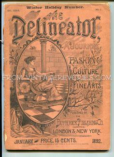 Started scanning: 1892 Delineator Fashion Culture Fine Arts Magazine