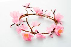 How to Make a Cherry Blossom Flower Crown via Brit + Co.