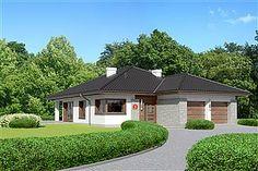 Projekt domu Miriam III 118,1 m2 - koszt budowy - EXTRADOM 100 M2, Facade House, Home Fashion, Future House, Gazebo, House Plans, Outdoor Structures, Mansions, House Styles