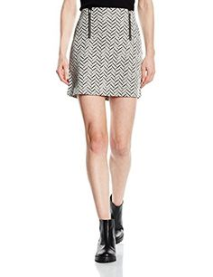 A Line Skirts, Mini Skirts, New Look Women, Zip, Zig Zag, Size 14, Amazon, Dresses, Black