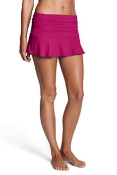 Womens Beach Living Flounce Mini SwimMini from Lands End(solid-multiple colors).