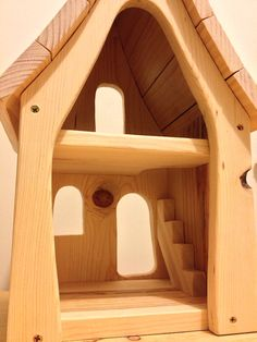 Fancy Wooden Fairy Waldorf Dollhouse by CottageFever on Etsy Dollhouse Toys, Wooden Dollhouse, Dollhouse Furniture, Wooden Dolls, Kids Doll House, Toy House, Woodworking Toys, Woodworking Workshop, Dremel