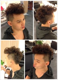 Wes, our all time trendy customer just want to be different this time! A overlap hair trim with innowave perm to create the HK-Korean look! Recommend him to add on a finishing effect of highlighting & colouring to complete the whole image. Can't wait to see those LIKEs coming from his friends now! Kudos!