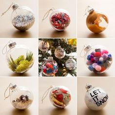 Make these 8 ornaments in under 8 minutes! / Holiday Crafts