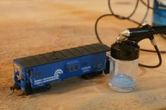 Painting Model Trains with an Airbrush